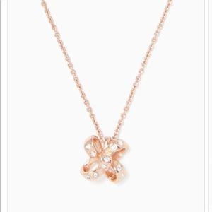 🆕Kate Spade - Rose Gold Mini Bow Necklace - NWT!